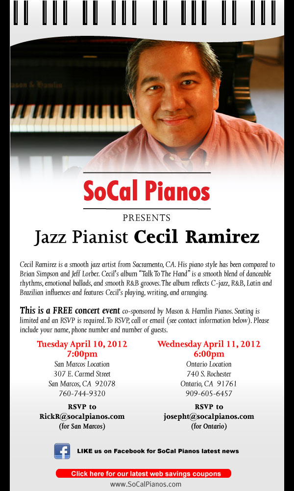 Cecil Ramirez at SoCal Pianos